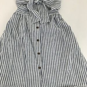 Zaful Dresses - Zaful Striped Front Knot Cutout Cami Dress S NWT